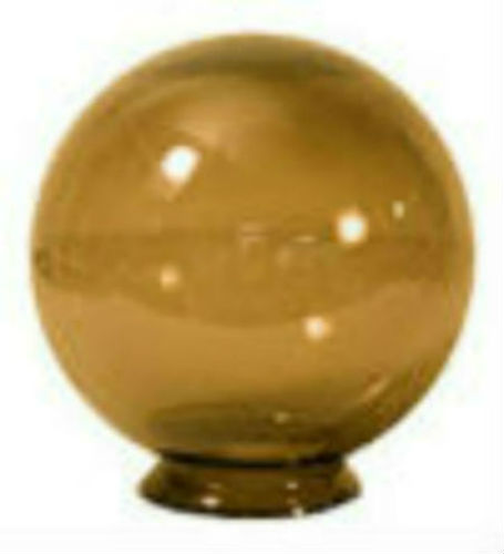 14 Inch Bronze Acrylic Lamp Post Globe with 5 91 Inch Flange