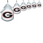 University of Georgia 6 Globe Outdoor String Set