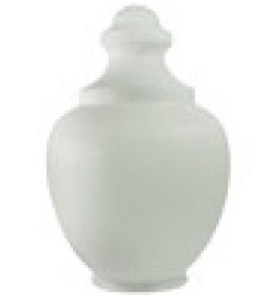 17 Inch White Polyethylene Macho Acorn Lamp Post Globe