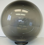 8 Inch Smoke Polycarbonate Lamp Post Globe with 3.91 Inch Solid Flange