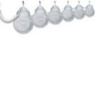 Six Globe String Light Set of White Acrylic Six Inch Globes