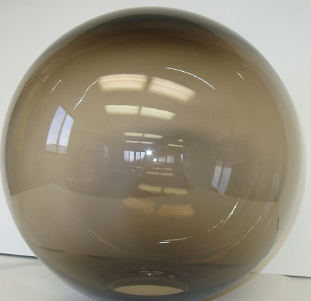 8 inch bronze acrylic lamp post globe with 3 5 inch opening. Black Bedroom Furniture Sets. Home Design Ideas
