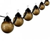 Bronze Etched 6 Globe Outdoor String Light Sets