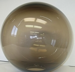 8 Inch Bronze Polycarbonate Lamp Post Globe with 3.5 Inch Neckless Opening