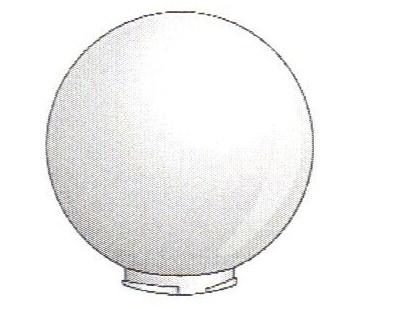 14 Inch White Acrylic Lamp Post Globe With 5 7 Inch Twist
