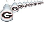 University of Georgia 10 Globe Outdoor String Set
