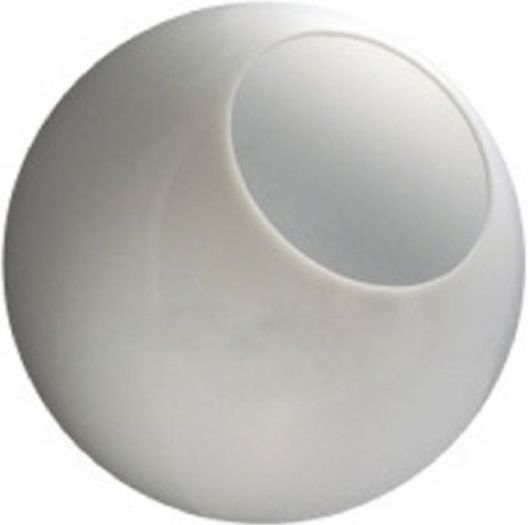 14 Inch White Acrylic Replacement Lamp Post Globes With 5