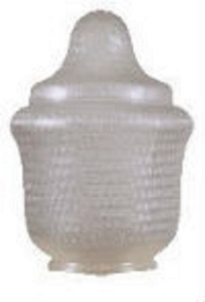 18 Inch Textured Clear Acrylic Small Trinidad Lamp Post