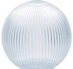 10 Inch Clear Prismatic Lamp Post Globe with CUSTOM OPENING