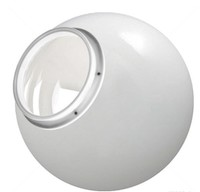 16 Inch White Acrylic Lamp Post Globe with 8 inch neck