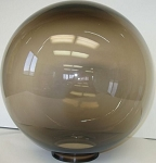 12 Inch Bronze Acrylic  Lamp Post Globe with 3.91 Inch Twist Lock Neck