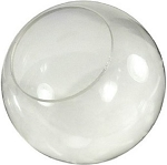 12 Inch Clear Acrylic Lamp Post Globe with 5.25 Inch Opening