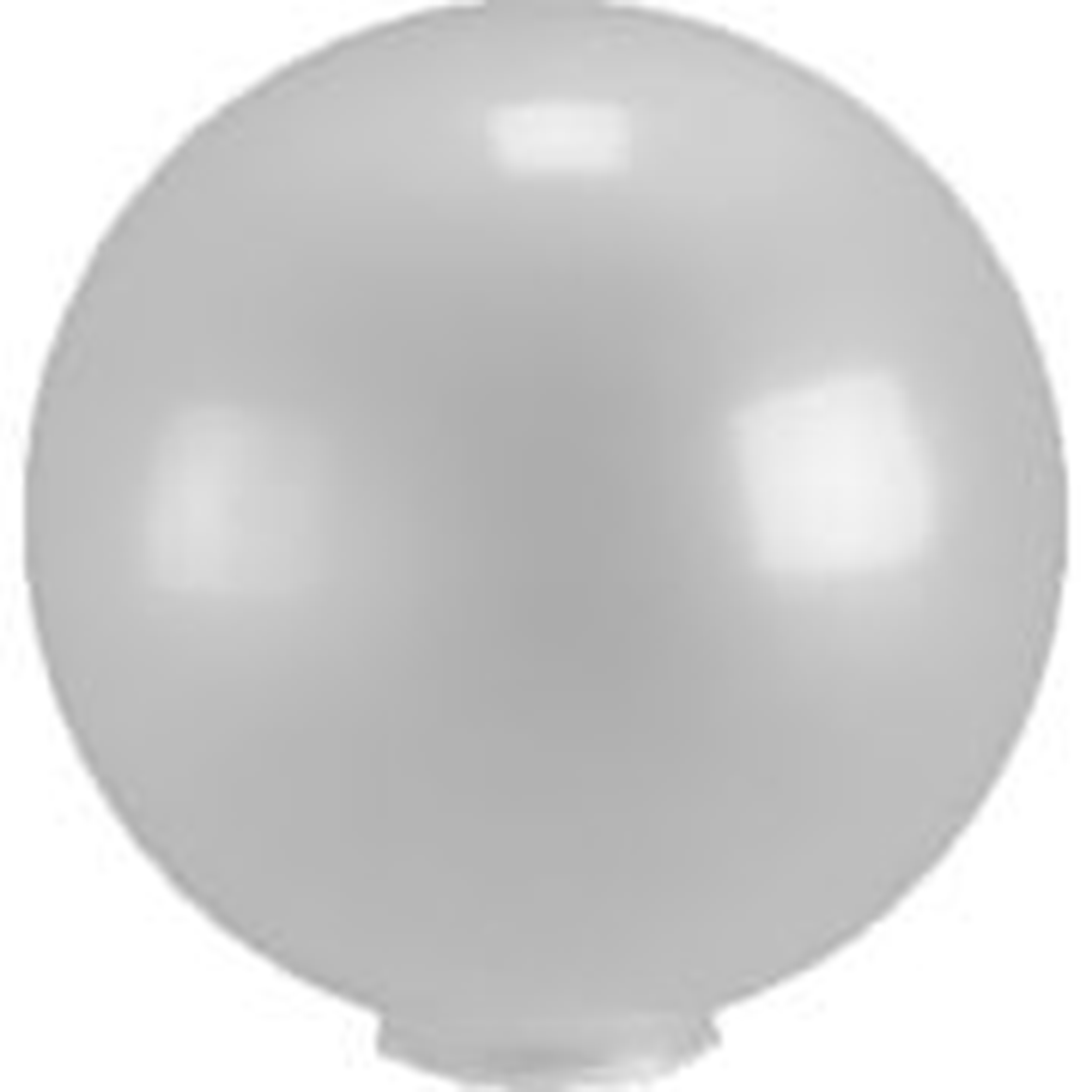 12 Inch Smoke Acrylic Lamp Post Globe with 3.91 Inch Solid Flange