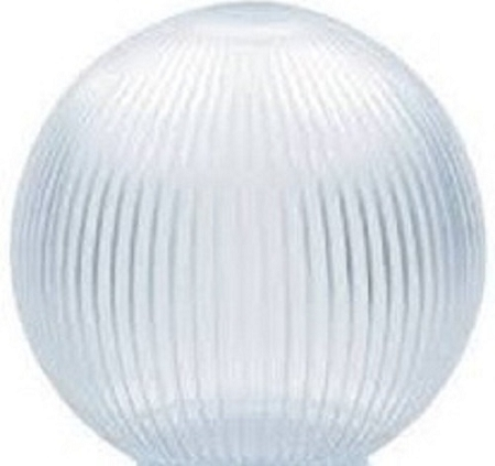 Clear Acrylic Prismatic 8 Inch Lamp Post Globe With 3 50