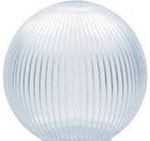 6 Inch Clear Acrylic Prismatic Lamp Post Globe with CUSTOM OPENING