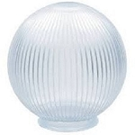 6 Inch Clear Acrylic Prismatic Lamp Post Globe with 3.12 Inch Neck