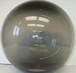 18 Inch Poly-carbonate Lamp Post Globe - Smoked Tint with 5.25 Inch Neckess Opening