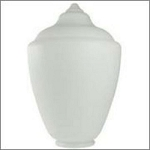 Small White Polyethylene Acorn Lamp Post Globe with 5.90 Inch Solid Flange