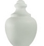 16 Inch White Polyethylene Macho Lamp Post Globe, Neckless with 5.25 Inch Opening