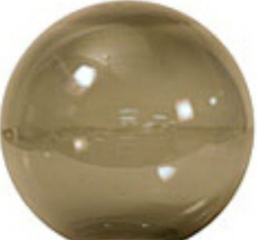 12 Inch Bronze Acrylic Neckless Lamp Post Globe With 3 5
