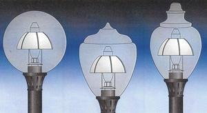 Dark Sky Lamp Post Globe Reflectors With Mogul Base Sockets