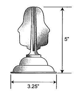 Black Plastic Finial For Lamp Post Globes