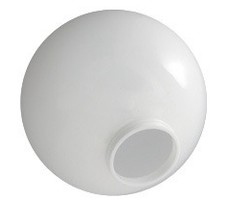 24 Inch White Acrylic Lamp Post Globe with 9.19 Inch Solid Flange