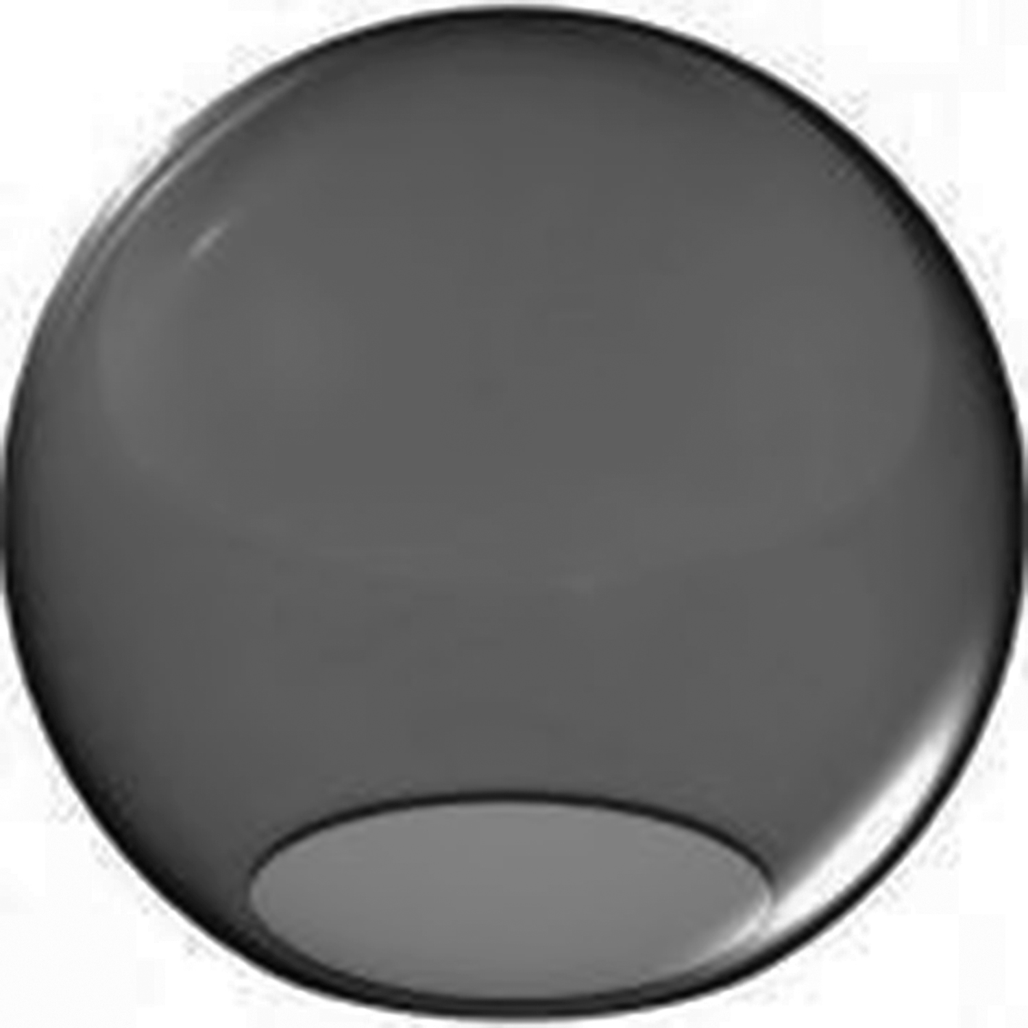 Home Round Replacement Globes 14 Inch Smoke Acrylic Lamp Post With 5 25 Opening