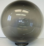 14 Inch Smoke Acrylic Lamp Post Globe with 5.91 Inch Flange