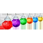 6 inch festival lights acrylic striped globe with white housing- 6 globes