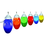 8 inch holiday lights acrylic smooth globe with white housing- 6 globes