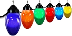 8 inch holiday lights acrylic smooth globe with black housing- 6 globes