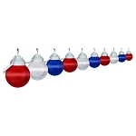 6 inch patriotic lights acrylic prismatic globe with white housing- 10 globes