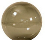 14 Inch Bronze Polycarbonate Lamp Post Globe with 5.25 Inch Neckless Opening