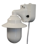 Portable Lantern - 5.5 inch white cylinder with white housing