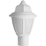 Decorative Post Fixture with White Housing and White Lens - 84311