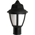 Decorative Post Fixture with Black Housing and White Lens - 84315