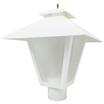 Decorative Post Fixture with White Housing and Frosted Lens - 85561