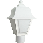 Decorative Post Fixture with White Housing and White Lens - 86111