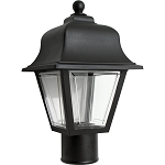 Decorative Post Fixture with Black Housing and Clear Lens - 86195