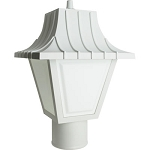 Decorative Post Fixture with White Housing and White Lens - 86211