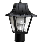 Decorative Post Fixture with Black Housing and Clear Lens - 86295