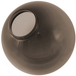 18 Inch Bronze Acrylic Lamp Post Globe with a 7.5 Inch Solid Flange