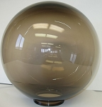 12 Inch Bronze Acrylic Lamp Post Globe with a 5.7 Inch Twist Lock Neck