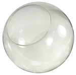 14 Inch Clear Polycarbonate Lamp Post Globe with 5.25 Inch  Neckless Opening