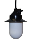 Hanging Pendant Light-5.5 inch white cylinder with black housing