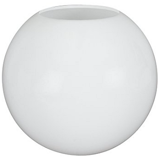 30 Inch White Polyethylene Lamp Post Globe with CUSTOM OPENING