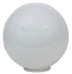 24 Inch White Polyethylene Lamp Post Globe with 5 7/8 Inch Solid Flange Neck