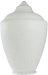 17 Inch White Polyethylene Acorn Lamp Post Globe with 5.90 Inch Solid Flange