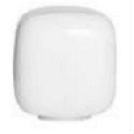 15 Inch White Acrylic Cube Lamp Post Globes with 5.7 Inch Solid Flange